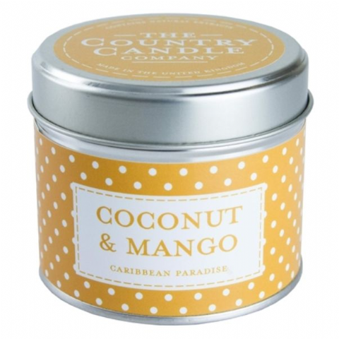 Coconut And Mango - Caribbean Paradise Candle In A Tin